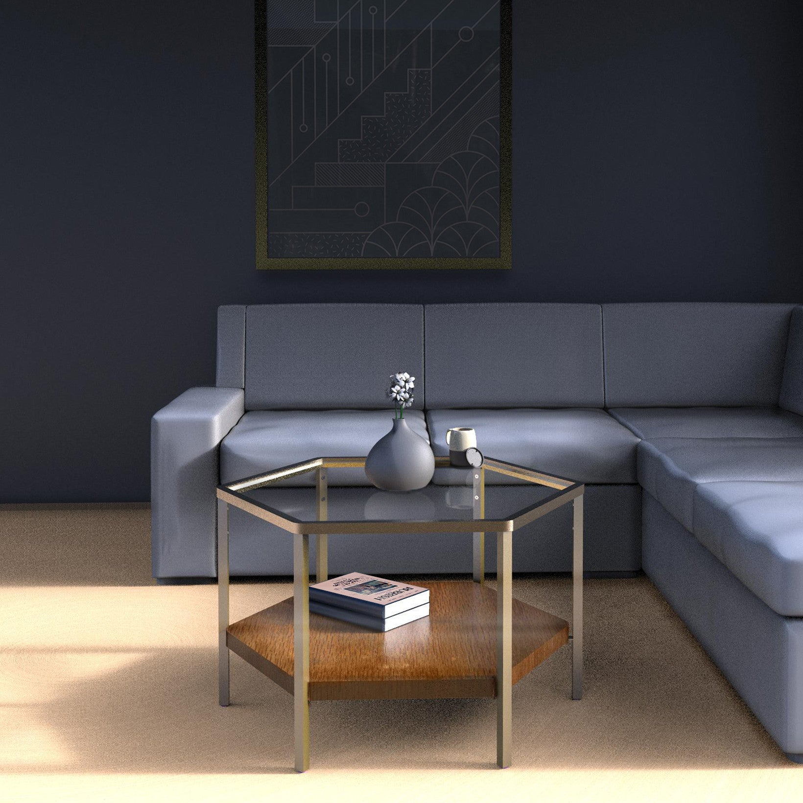 YUAN Loft Hexagon Coffee Table Brass – SCENE SHANG