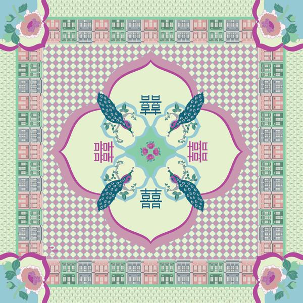 Binary Style - Peranakan Opulence in Cotton Silk