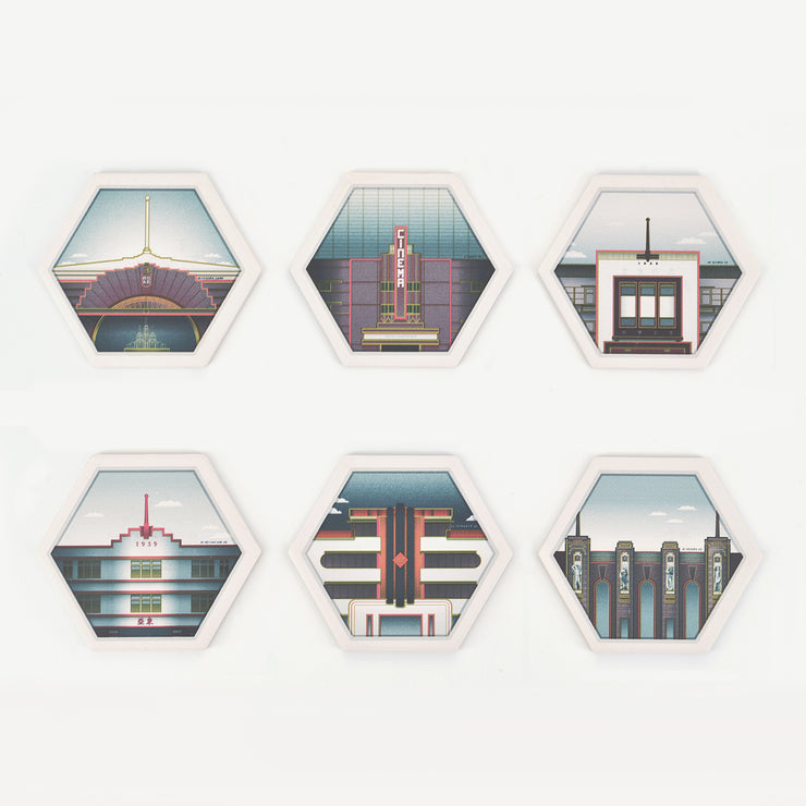 EMBRACE ME Coaster Set of 6 - SCENE SHANG