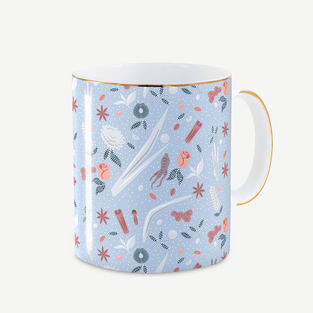 Love is a Warm Brew - Blue Mug