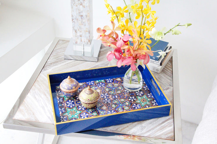 Lacquer Tray - Lapis - SCENE SHANG