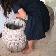 WEAVE Weatherproof Drum Stool with Storage - Tri Colour