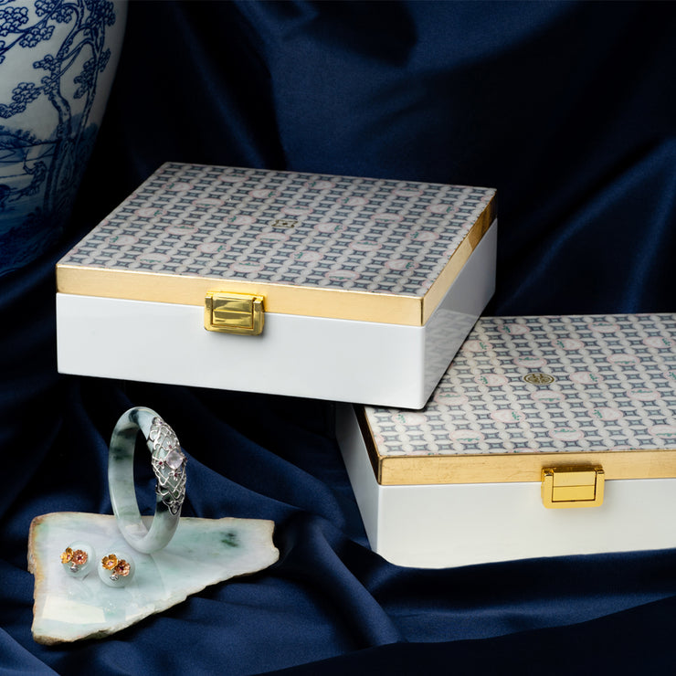 SHUANG XI (Double Happiness) Lacquer Jewellery Box - SCENE SHANG