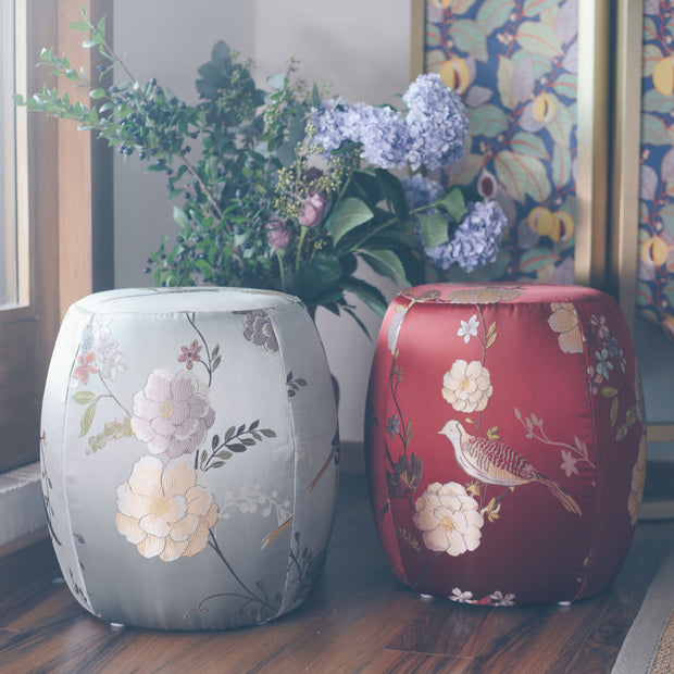 Blossoming Abundance - Drum Stool - SCENE SHANG
