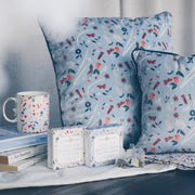 Love is a Warm Brew - Blue Cushion - SCENE SHANG