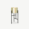 SHENG Plant Low Stand - Black with Planter - SCENE SHANG
