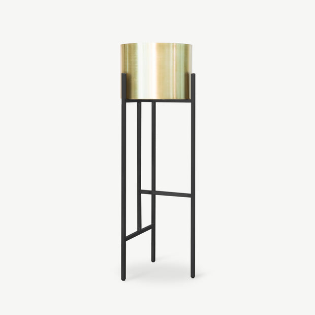 SHENG Plant High Stand - Black with Planter - SCENE SHANG