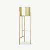 SHENG Plant High Stand - Brass with Planter - SCENE SHANG