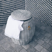 WEAVE Weatherproof Drum Stool with Storage - Grey