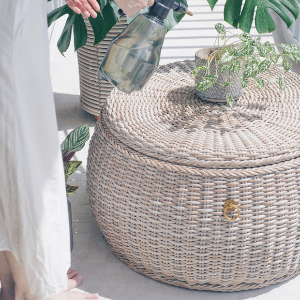 WEAVE Weatherproof Pouf with Storage - Tri Colour