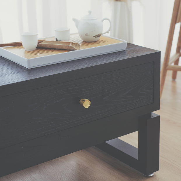 KIAN Old Elm Wood Console - Midnight