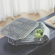 ART DECO Cane Tray with Lid - Grey