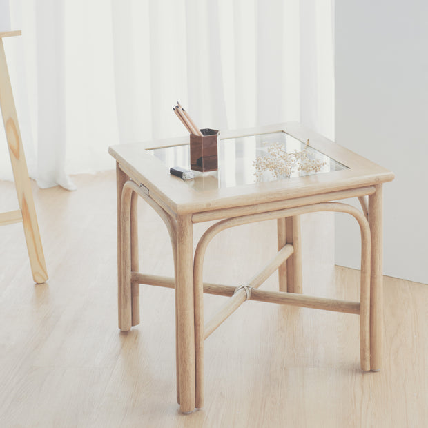 THE SIDEKICK Cane Side Table