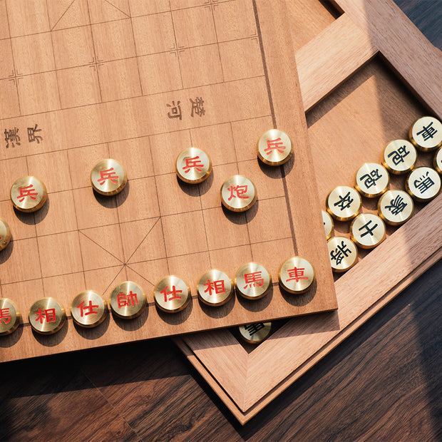 Brass Chinese Chess Set - SCENE SHANG