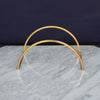 Brass Display Stand - Half Circle