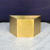 Brass Display Stand - Half Hexagon