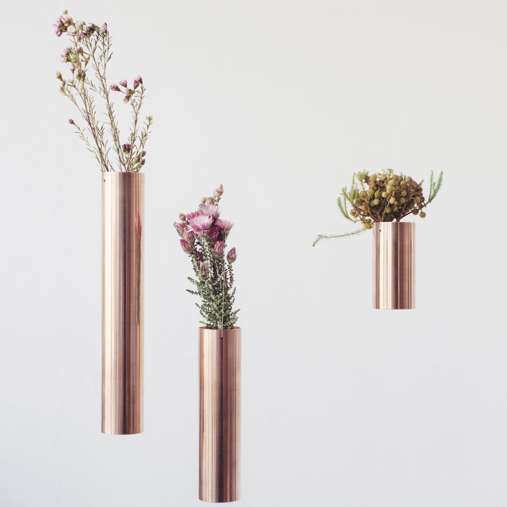 Copper Hanging Vase