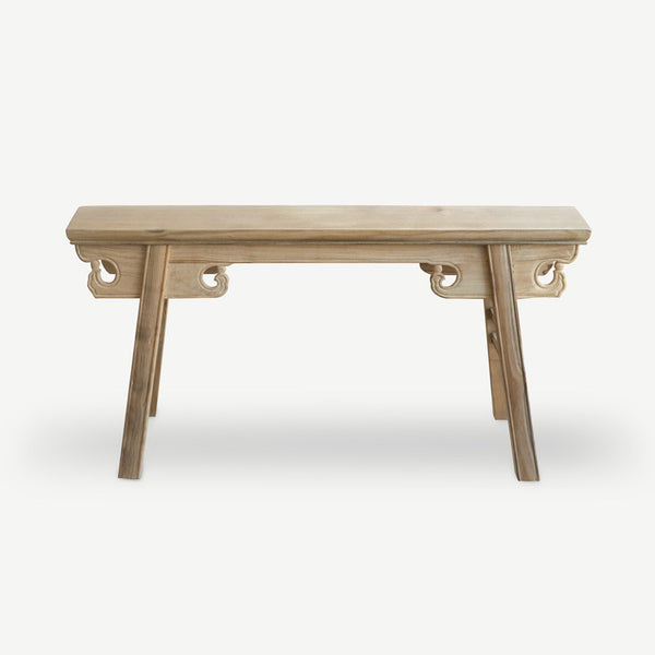 Old Elm Wood Gate Bench - Natural - SCENE SHANG