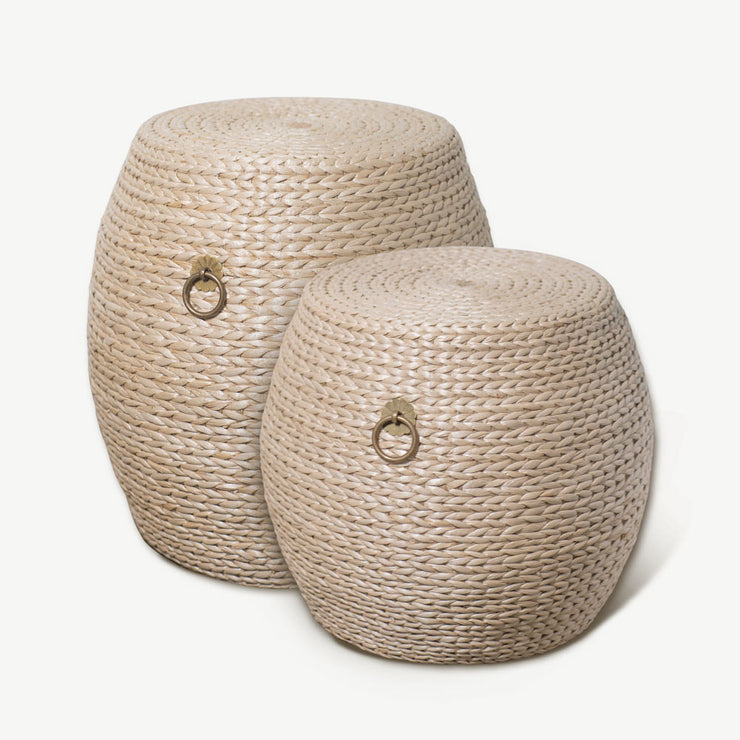 Grass Weave Drum Stool - Large - SCENE SHANG