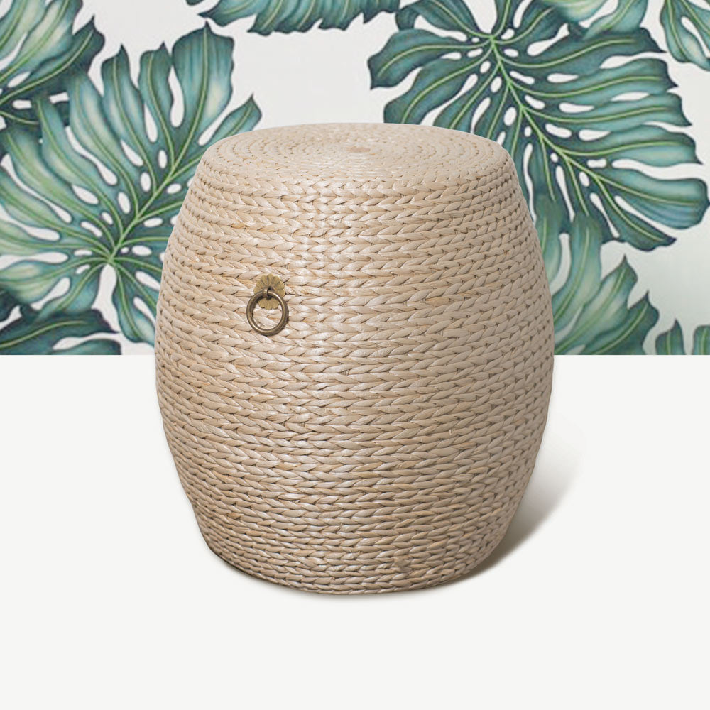 Grass Weave Drum Stool - Large