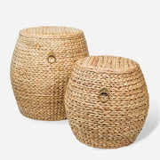 HYACINTH Weave Drum Stool - Large
