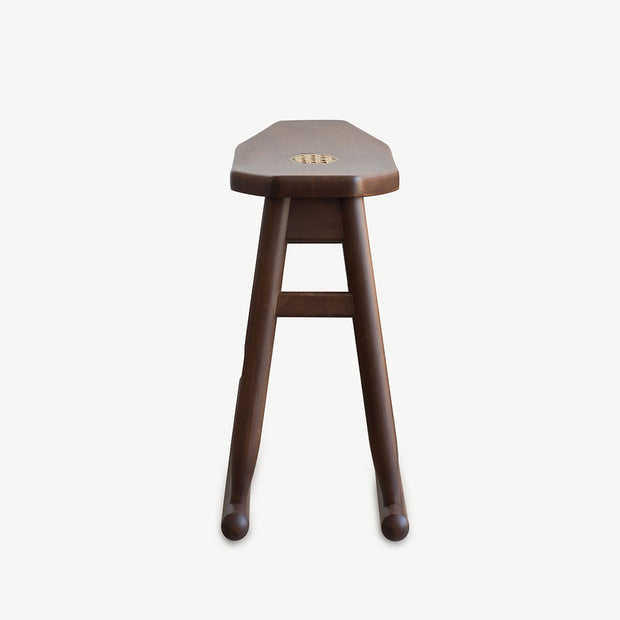 JIA JU Rocking Stool Walnut - SCENE SHANG