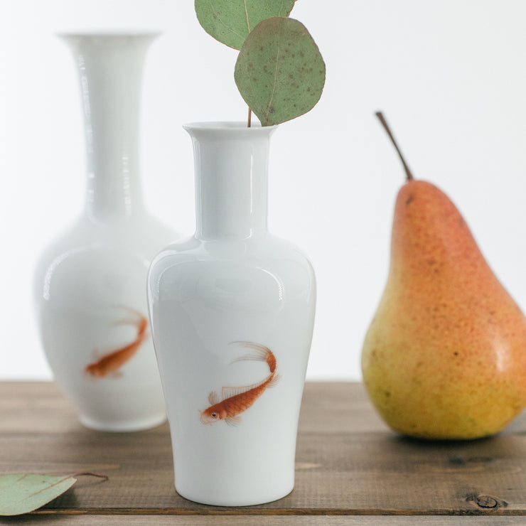 Hand Painted Mini Vases - Red Fish - SCENE SHANG