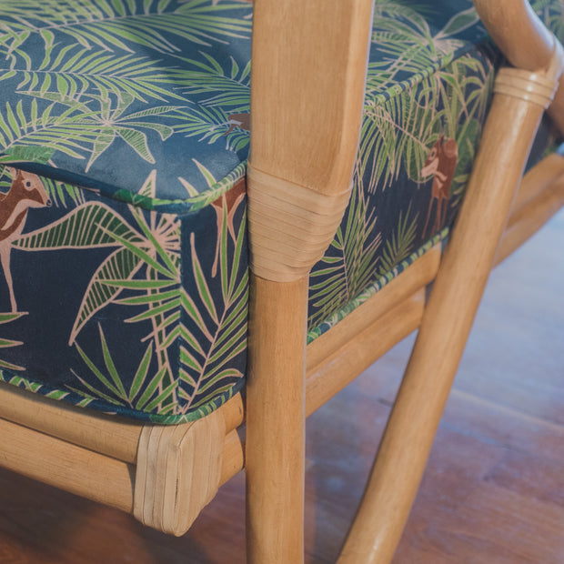 THE MAVERICK Cane Chair x Binary Style - 'Sang Kanchil Mouse Deer' Velvet
