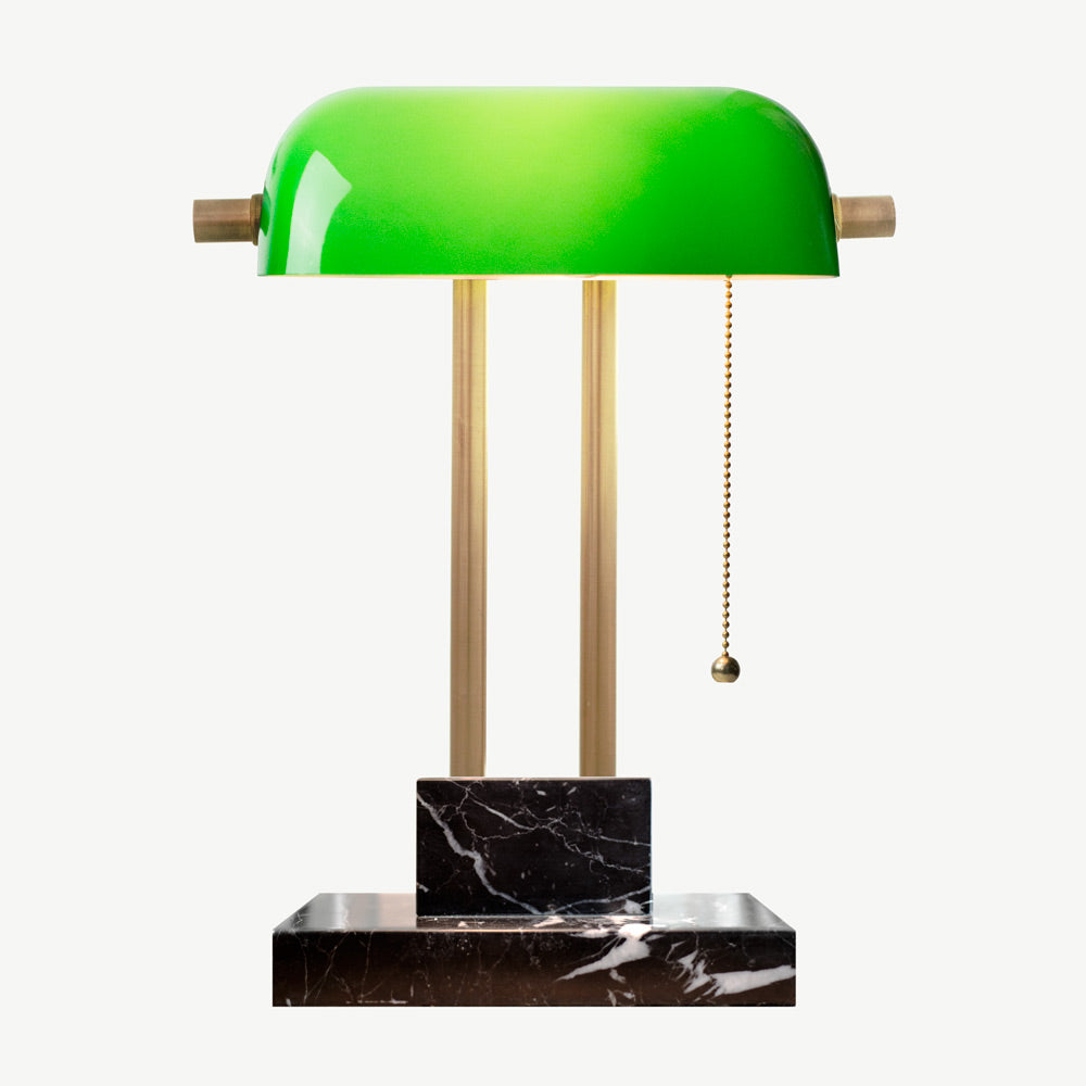 THE BANKER Desk Lamp - Nero Marquina - SCENE SHANG