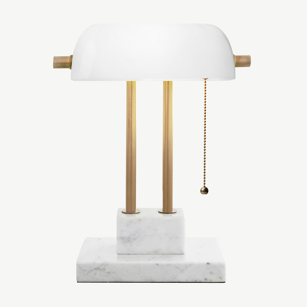 THE BANKER Desk Lamp - Pearl