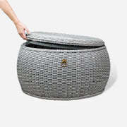 WEAVE Weatherproof Pouf with Storage - Grey