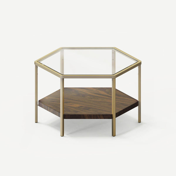 YUAN Loft Hexagon Coffee Table - Brass