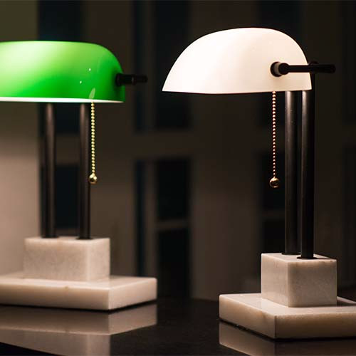 THE BANKER Desk Lamp - Ivory - SCENE SHANG