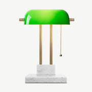 THE BANKER Desk Lamp - Satin Emerald