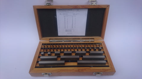 Gauge Block Set M47 piece Tungsten Carbide with UKAS