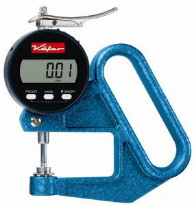 KAFER Digital Thickness Gauge JD 50 with Lifting Device - Reading: 0.01 mm