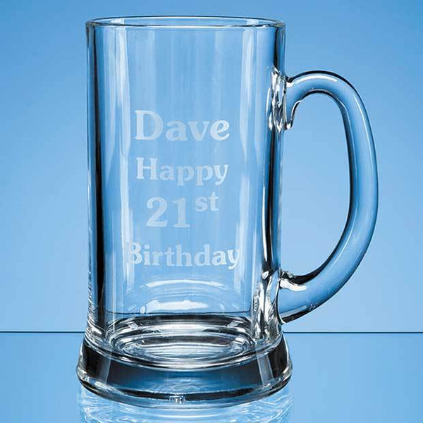 BG1P -   2 Pint Straight Sided Tankard - (Fully Engraved)