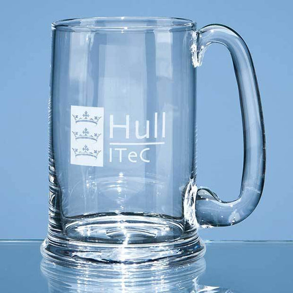 C15P -   0.6ltr Dartington Crystal Real Ale Tankard - (Fully Engraved)