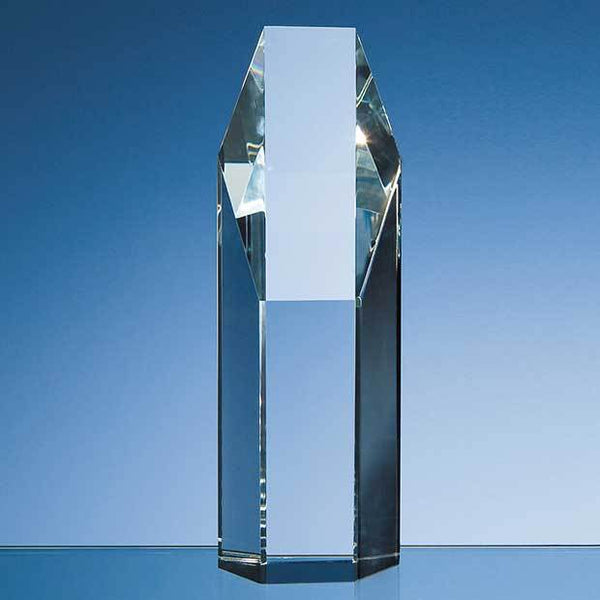 DY16P -   19cm Optical Crystal Hexagon Award - (Fully Engraved)