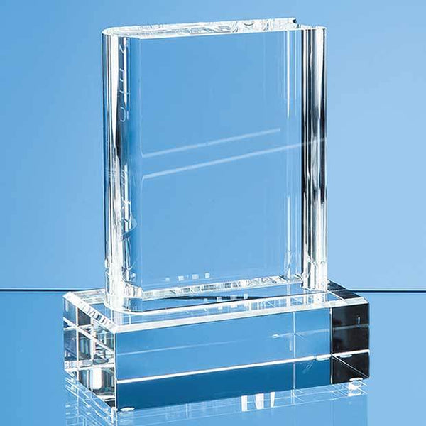 DY21P -   12.5cm Optical Crystal Book Award - (Fully Engraved)