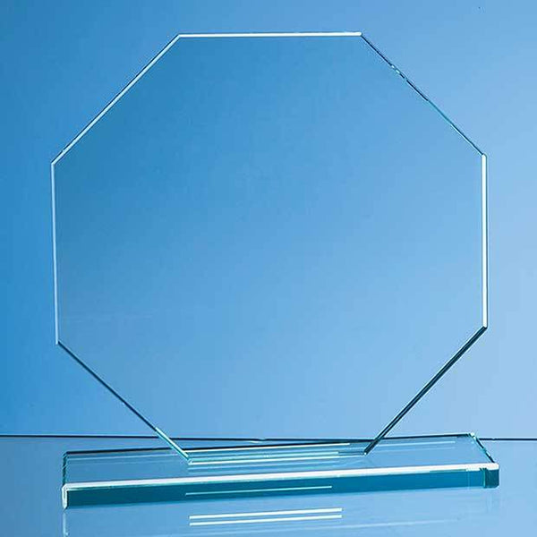DY35P -   20cm x 20cm x 12mm Jade Glass Octagon Award - (Fully Engraved)