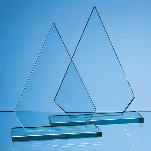 26.5cm x 18.5cm x 12mm Jade Glass Peak Award
