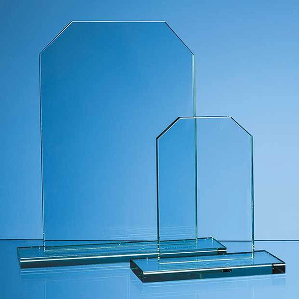 DY39P -   15cm x 10cm x 12mm Jade Glass Honour Award - (Fully Engraved)