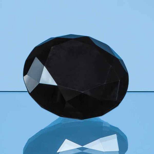 EUR31P -   6cm Onyx Black Diamond Paperweight - (Fully Engraved)