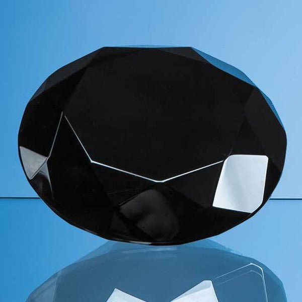 EUR33P -   10cm Onyx Black Diamond Paperweight - (Fully Engraved)