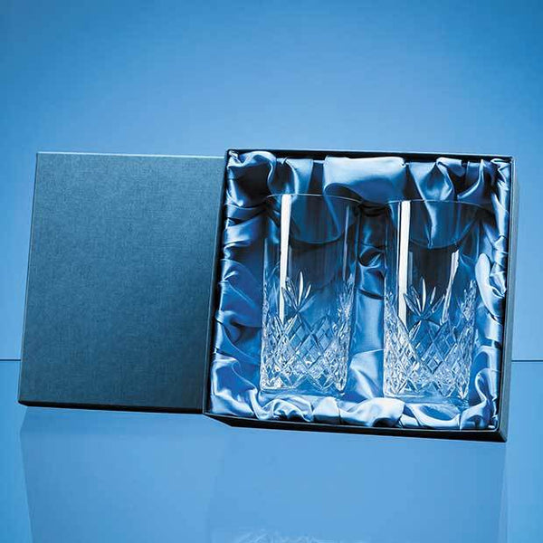 FCL6092P -   2pc 360ml Blenheim Lead Crystal Full Cut High Ball Gift Set - (Fully Engraved)