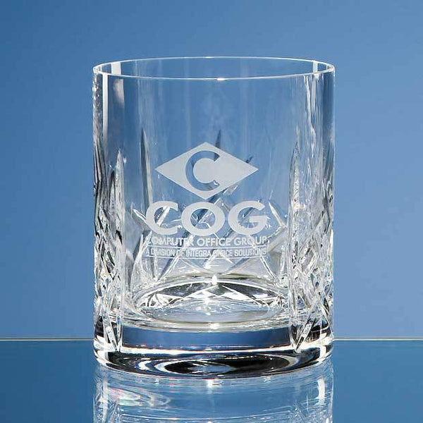 HM64P -   320ml Flamenco Crystalite Panel Whisky Tumbler - (Fully Engraved)