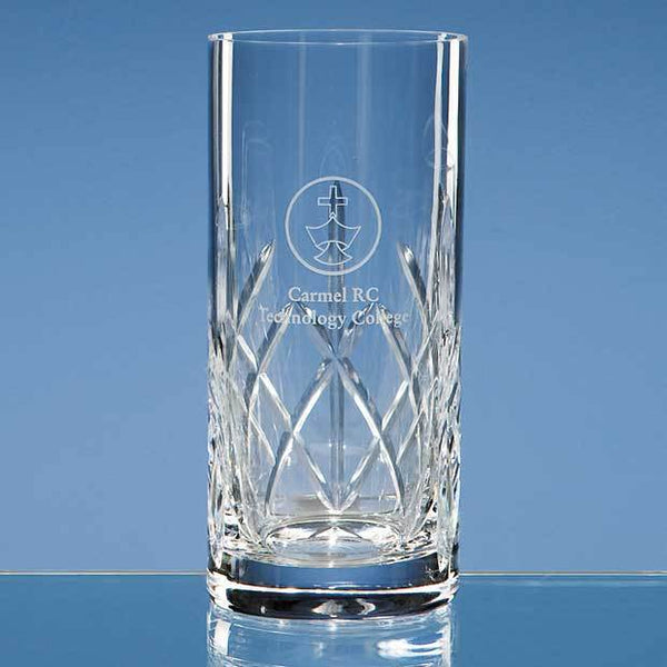 HM95P -   350ml Flamenco Crystalite Panel High Ball - (Fully Engraved)