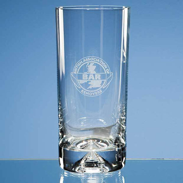 JL26P -   300ml Dimple Base High Ball - (Fully Engraved)