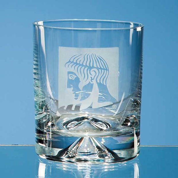 JL27P -   260ml Dimple Base O/F Whisky Tumbler - (Fully Engraved)